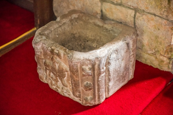 The peculiar medieval font bowl