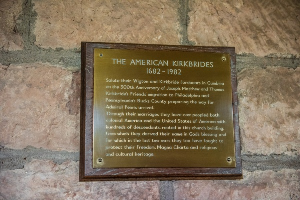 American Kirkbride family tricentennial plaque
