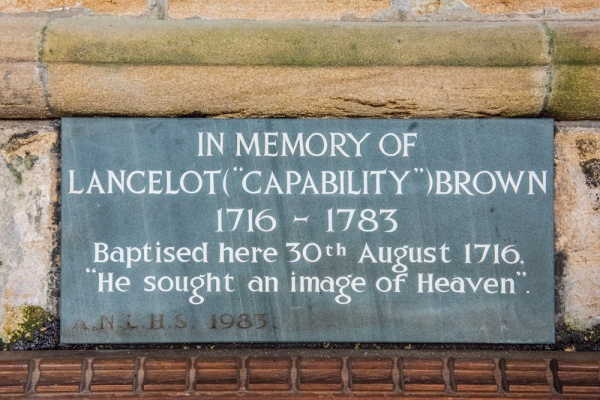 Capability Brown memorial tablet