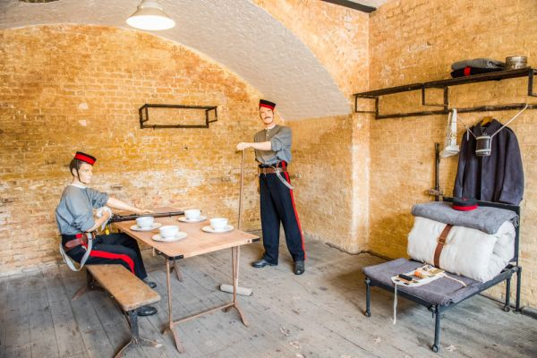 Landguard Fort photo, Recreated Victorian soldier's barracks