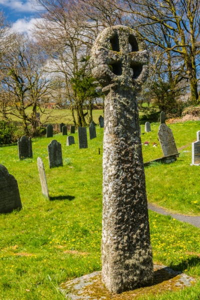 The Celtic churchyard cross