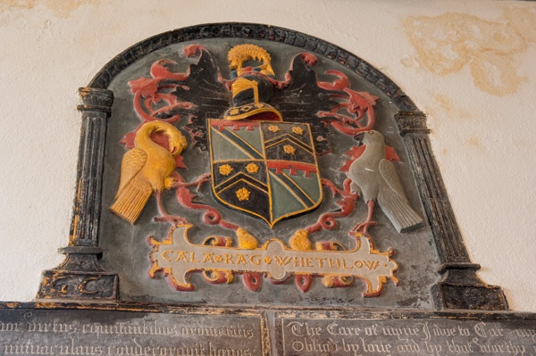 The contentious Carminow coat of arms