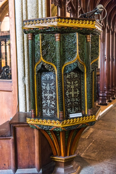 The exquisite pre-Reformation pulpit