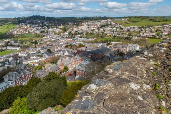 Launceston Castle photo, Launceston town from atop the castle keep