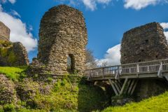 Launceston Castle, The ruined gateway and bridge