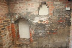 Brick niches in the cellar