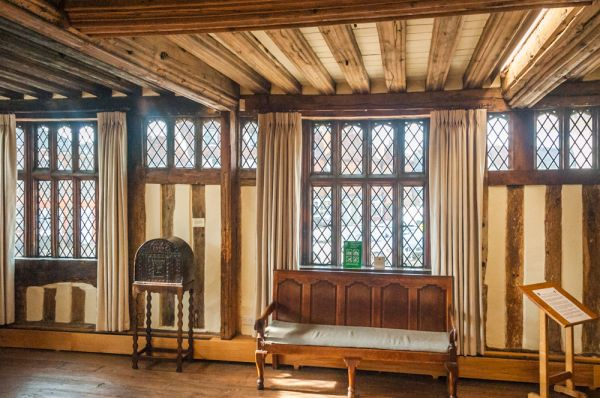 Lavenham Guildhall photo, The first floor hall
