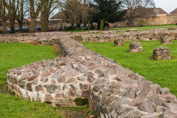 The abbey foundation walls