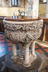 The ornate 13th century font