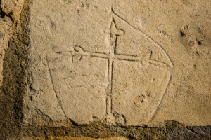 Medieval grafitti - a floriated cross