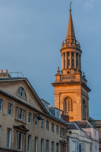 The spire of Lincoln College chapel