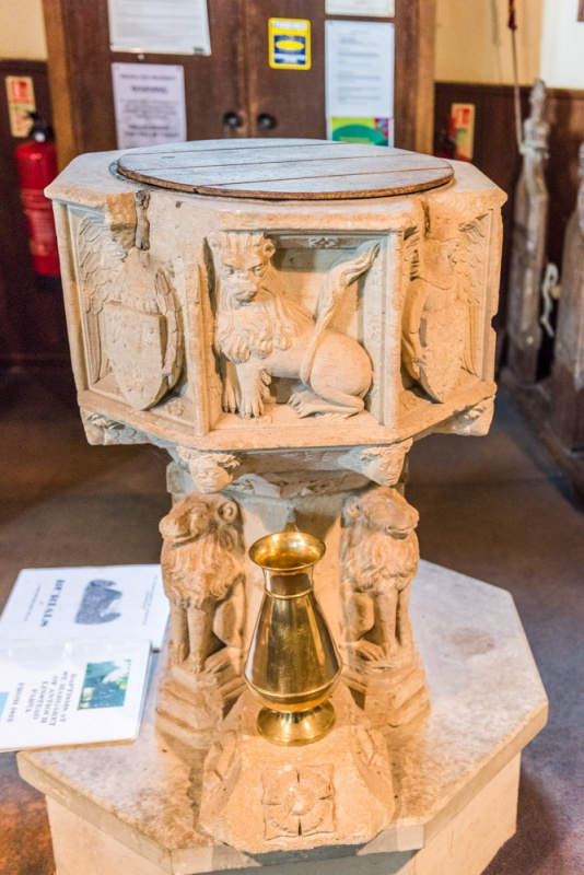 The 14th century octagonal font