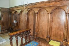 The chancel panelling
