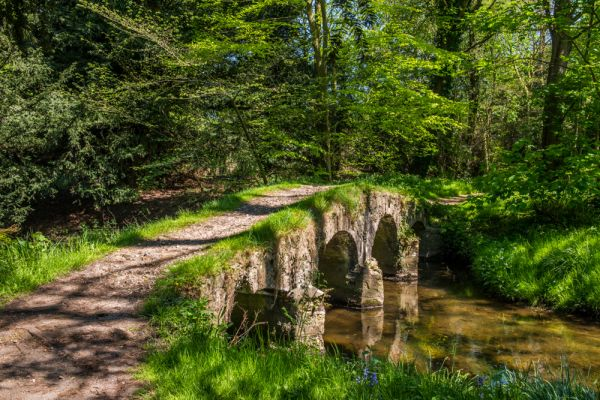 Walsingham Abbey photo, The packhorse bridge