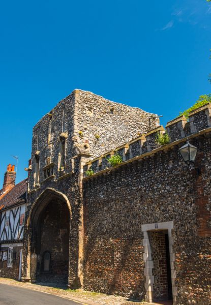 Walsingham Abbey photo, The 14th century Abbey gatehouse from High Street