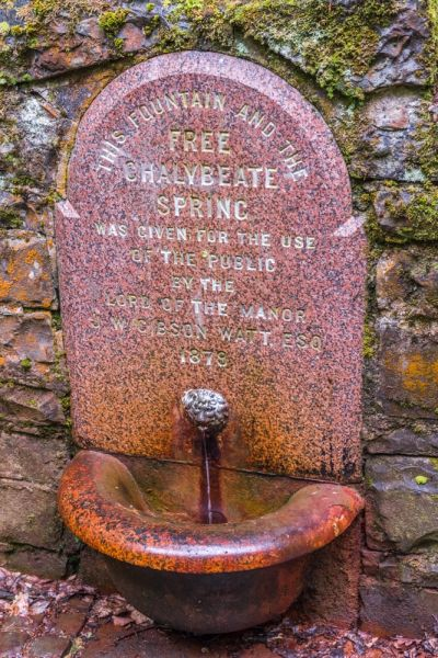 The chalybeate spring marble drinking fountain