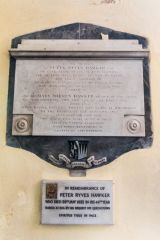 Memorial to Peter Hawker (1790) and Mary Hawker (1811)