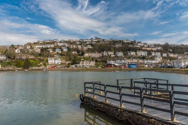 East Looe from across the harbour