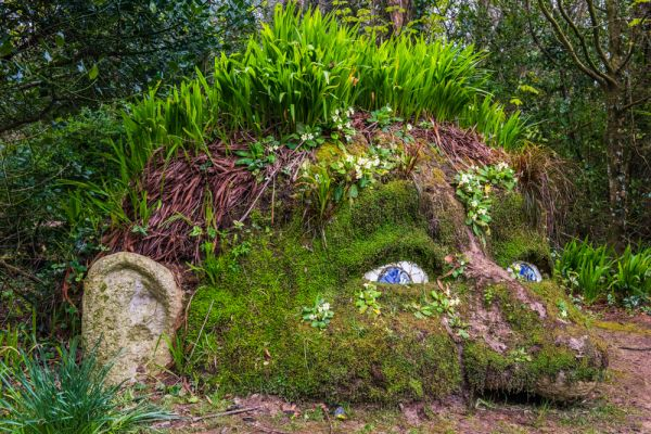 Lost Gardens of Heligan photo, The Giant's Head sculpture