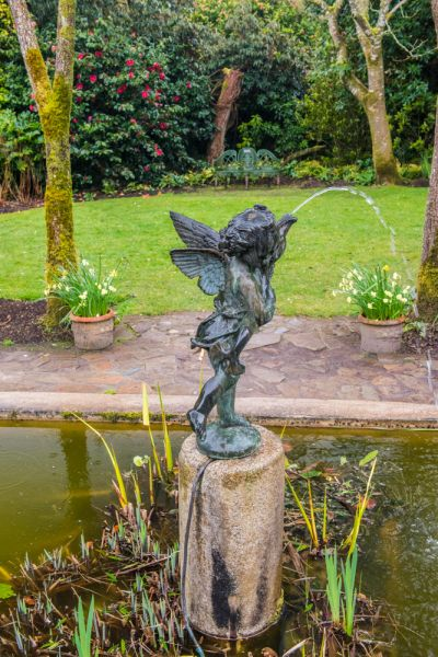 Lost Gardens of Heligan photo, A fountain in the Italian Garden