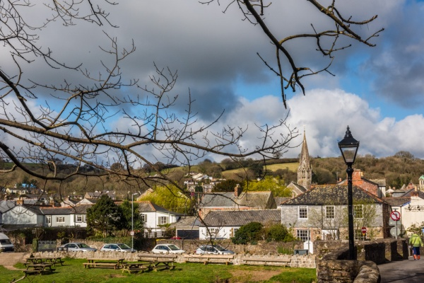 Lostwithiel from the east bank of the River Fowey