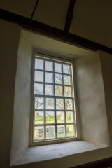 Georgian sash window, north wall
