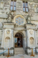 Lulworth Castle, The ornate front entrance