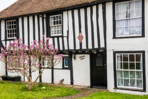 A pretty timber-framed medieval cottage in Lydd