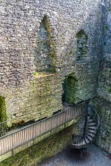 Lydford Castle, Looking down inside the castle
