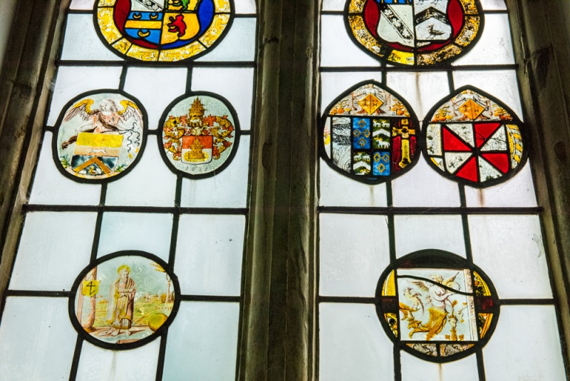 16th century Flemish painted glass roundels