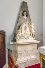 Mapperton, All Saints Church, Memorial to (Richard Brodrepp (d. 1737)