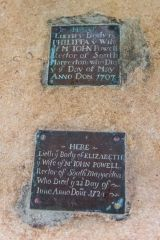 Mapperton, All Saints Church, Early 18th century Powell family brasses