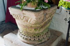 Market Overton Church, The beautifully carved Norman font