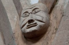Market Overton Church, Grotesque medieval carved head