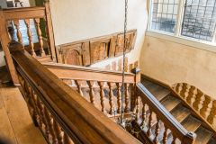 The restored Jacobean staircase