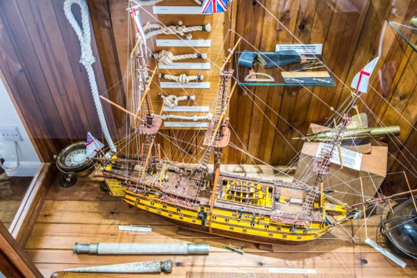 Maryport Maritime Museum photo, Model of the HMS Victory