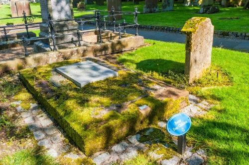Burns' children's graves in Mauchline's Old Churchyard