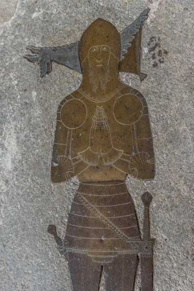 Memorial brass to John Knyvet (d. 1417)