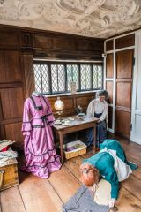 Great Yarmouth Row Houses and Greyfriars Cloister, Victorian seamstress exhibition in the Merchant's House