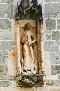 12th century statue of St Michael