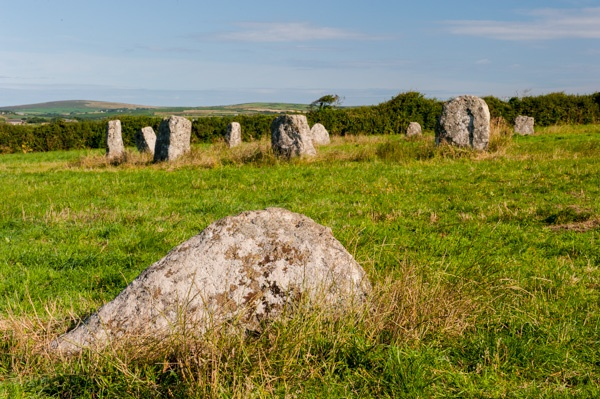 The stone circle from the eastern outlier stone