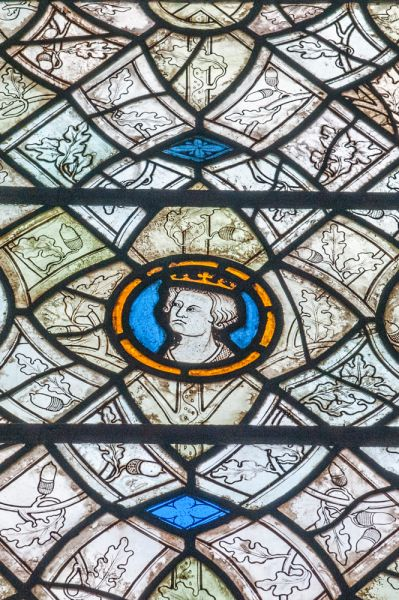 Merton College, Oxford photo, 13th century glass in the chapel