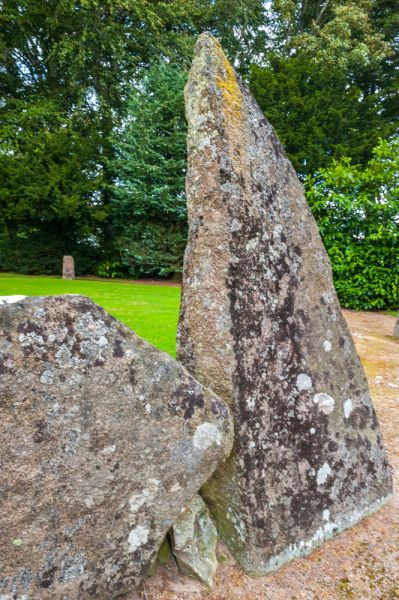 Midmar Kirk Stone Circle photo, The western flanking stone