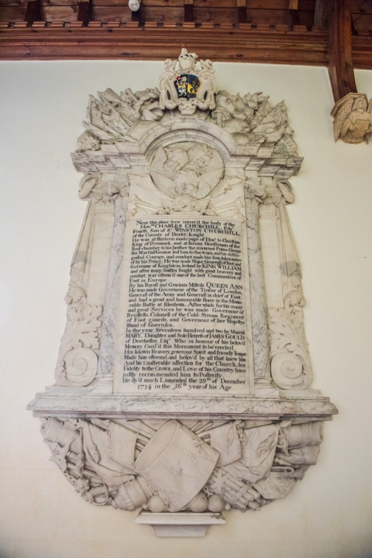 Memorial to General Charles Churchill (d. 1714) brother of the Duke of Marlborough