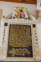 Minterne Magna, St Andrew's Church, Mary, Countess of Gainsborough memorial, d. 1693