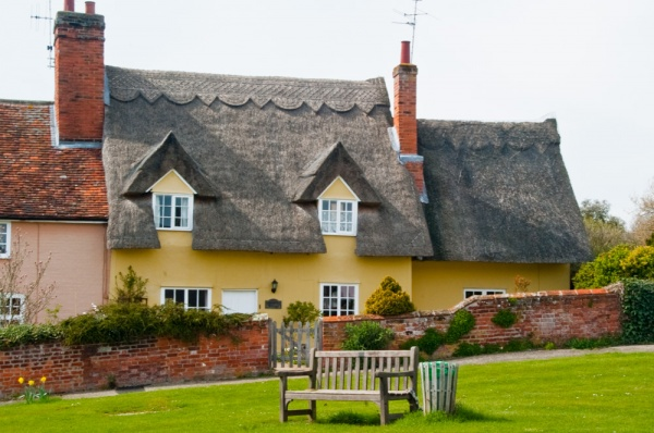 Thatched cottages on the green