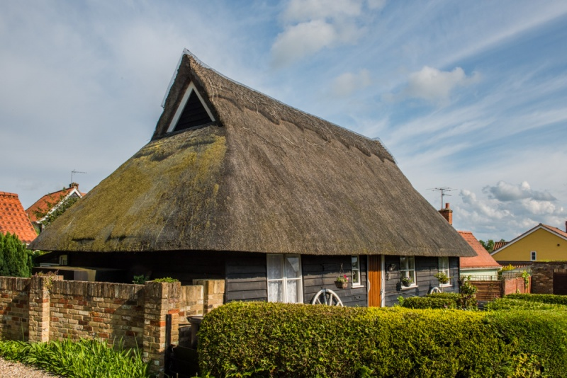 A thatched cottage in Monks Eleigh