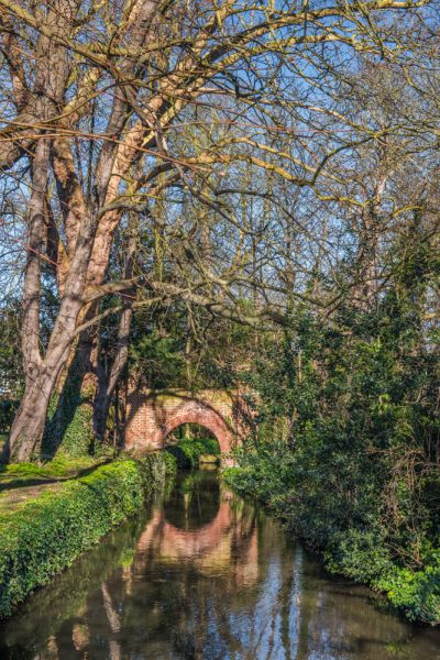 Morden Hall Park photo, A bridge across the River Wandle