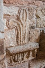 Norman carving set into the north wall