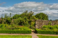 The croquet lawn and walled garden
